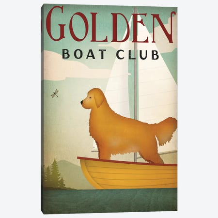 Golden Boat Club Canvas Print #WAC4248} by Ryan Fowler Canvas Print