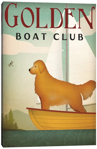 Golden Boat Club Canvas Art Print