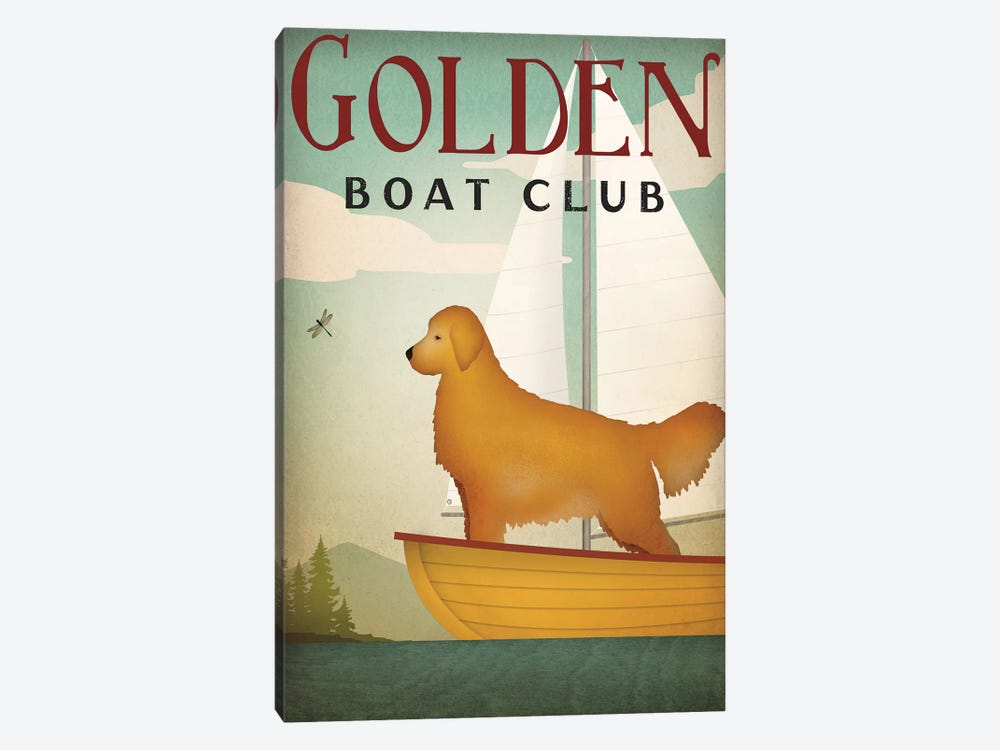 Golden Boat Club by Ryan Fowler 1-piece Art Print
