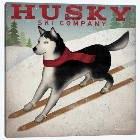 Husky Ski Co. Canvas Print #WAC4249} by Ryan Fowler Art Print