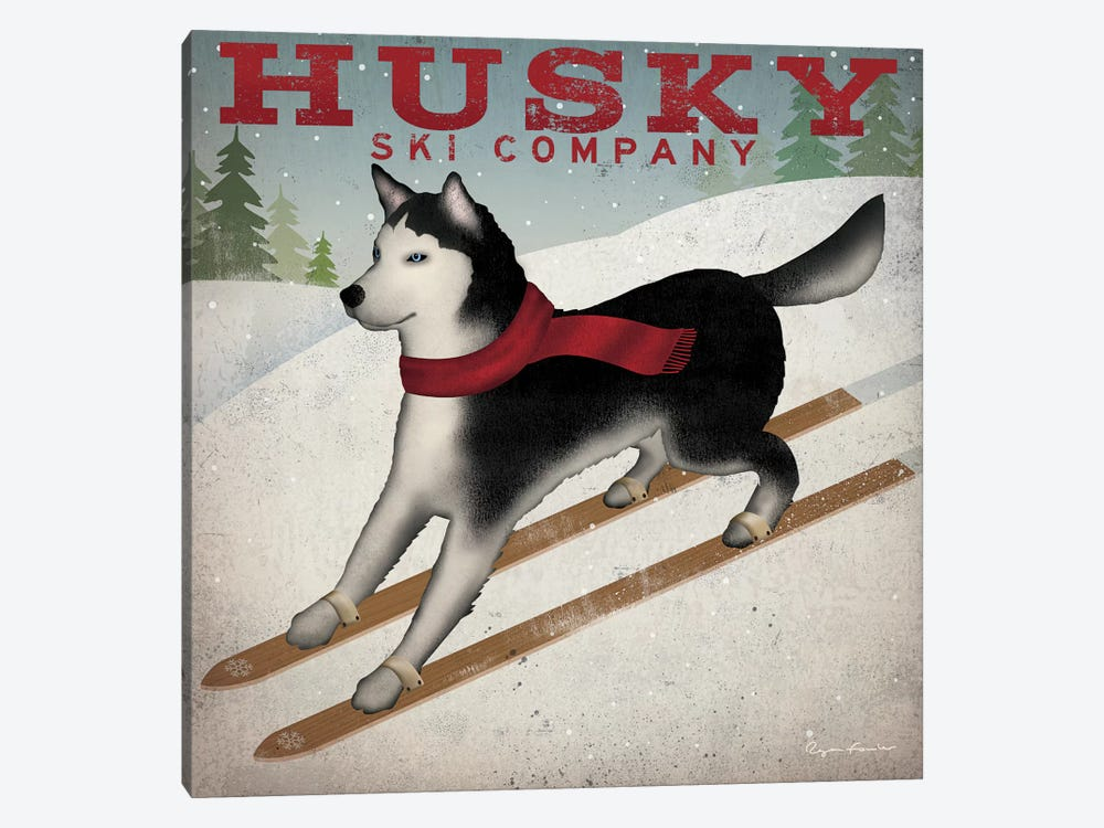 Husky Ski Co. by Ryan Fowler 1-piece Canvas Art