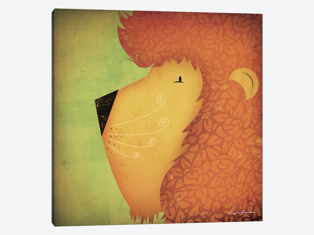Lion WOW by Ryan Fowler 1-piece Canvas Art