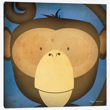 Monkey WOW Canvas Print #WAC4253} by Ryan Fowler Canvas Artwork