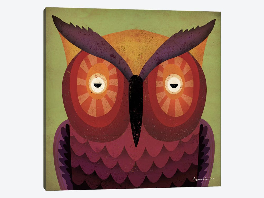 Owl WOW by Ryan Fowler 1-piece Canvas Wall Art