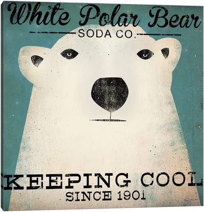 White Polar Bear Soda Co. Canvas Art Print