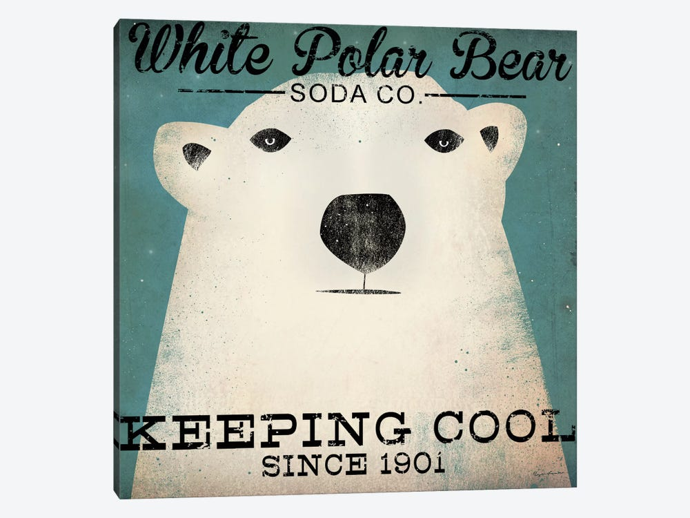 White Polar Bear Soda Co. 1-piece Canvas Artwork