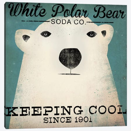White Polar Bear Soda Co. Canvas Print #WAC4256} by Ryan Fowler Art Print