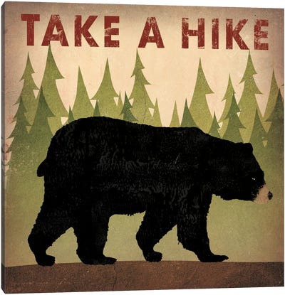Take A Hike (Black Bear) Canvas Art Print