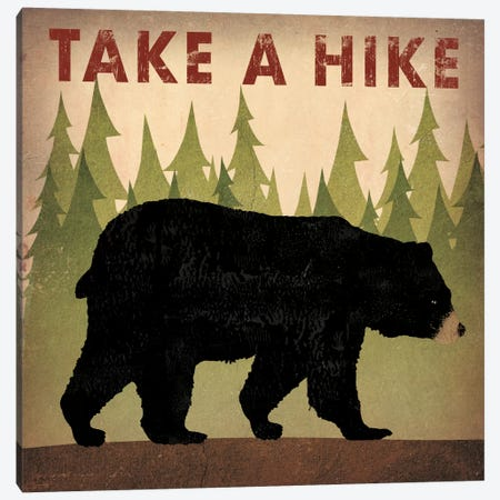 Take A Hike (Black Bear) Canvas Print #WAC4257} by Ryan Fowler Canvas Print