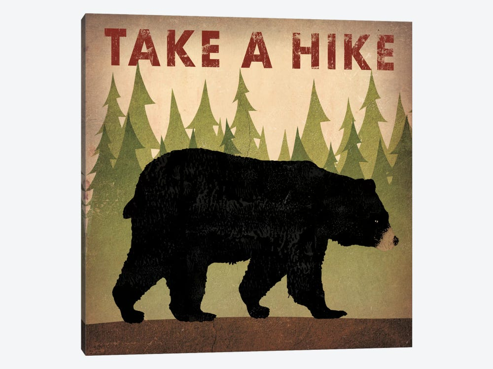 Take A Hike (Black Bear) by Ryan Fowler 1-piece Art Print