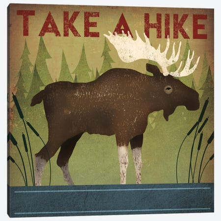 Take A Hike (Moose) Canvas Print #WAC4258} by Ryan Fowler Canvas Artwork