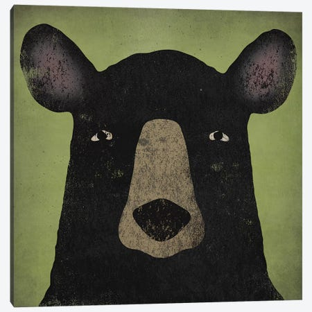 Black Bear Canvas Print #WAC4260} by Ryan Fowler Canvas Print