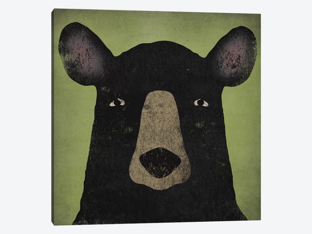 Black Bear by Ryan Fowler 1-piece Canvas Art Print
