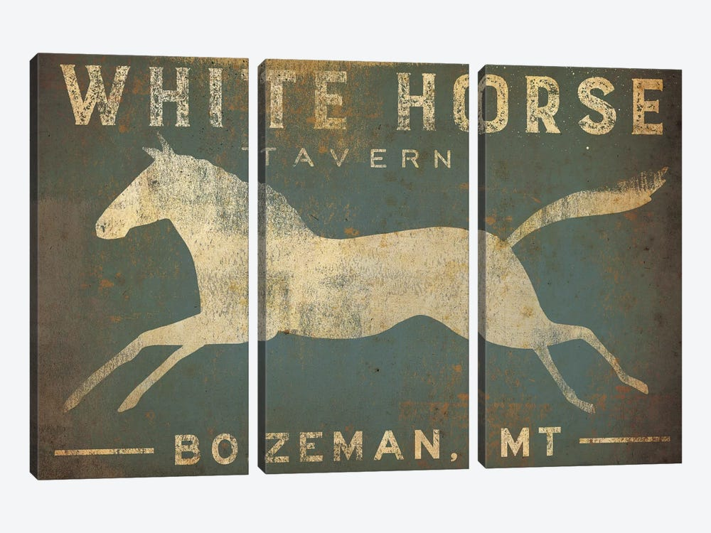 White Horse Tavern by Ryan Fowler 3-piece Canvas Art Print