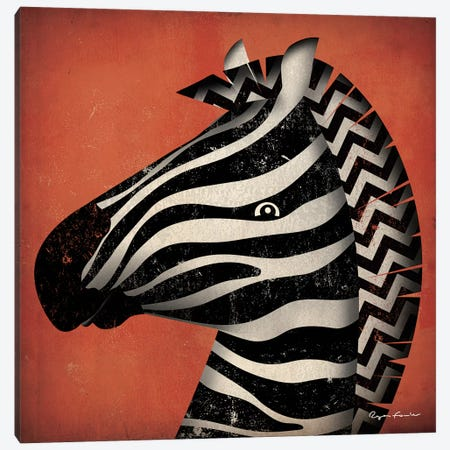 Zebra WOW Canvas Print #WAC4264} by Ryan Fowler Canvas Artwork