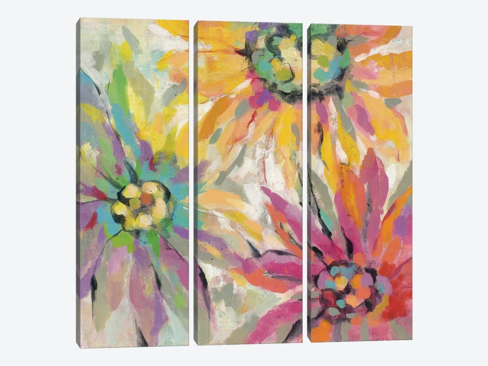 Abstracted Petals I by Silvia Vassileva 3-piece Canvas Art