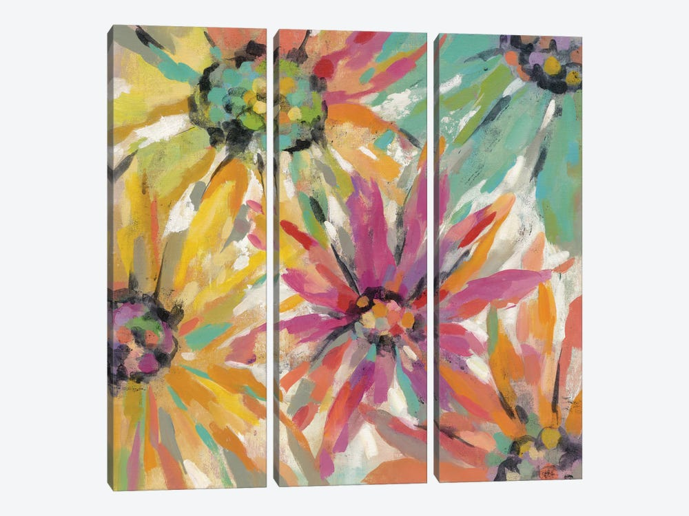 Abstracted Petals II by Silvia Vassileva 3-piece Canvas Print