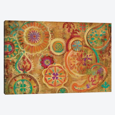 Contemporary Paisley Canvas Print #WAC4272} by Silvia Vassileva Canvas Wall Art