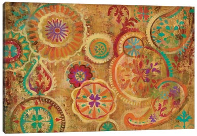 Contemporary Paisley Canvas Art Print