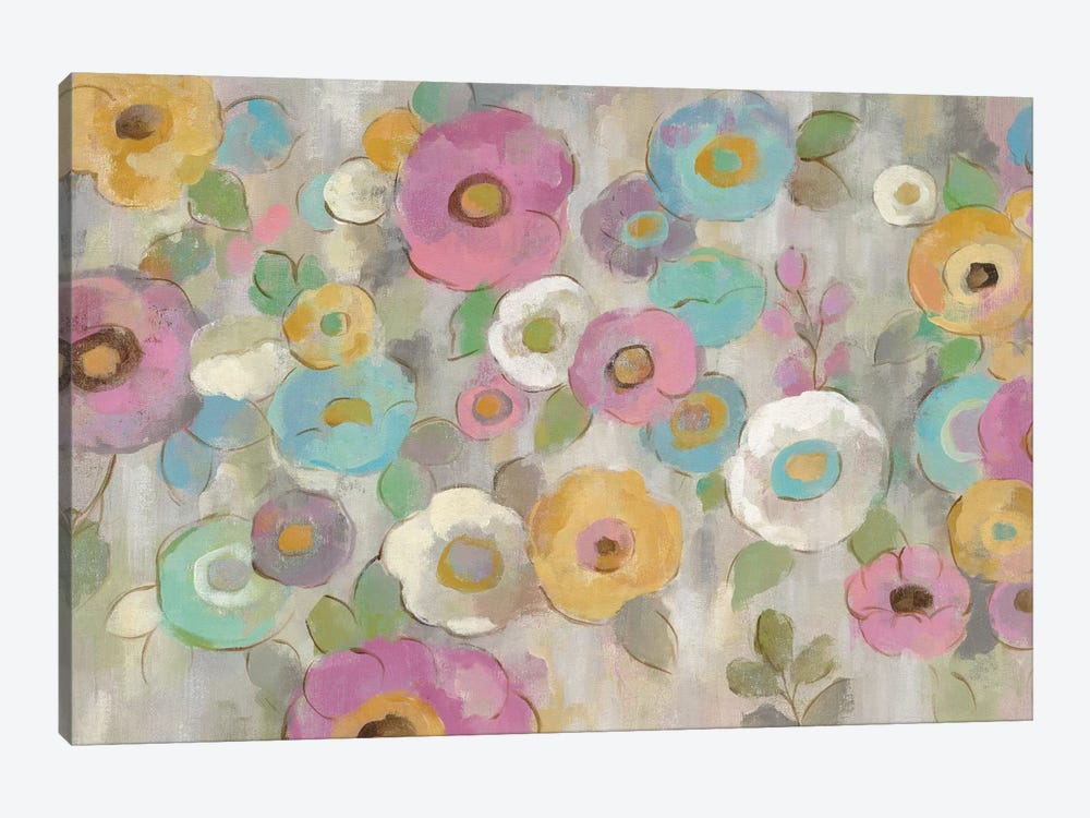 Fog And Flowers I by Silvia Vassileva 1-piece Canvas Artwork