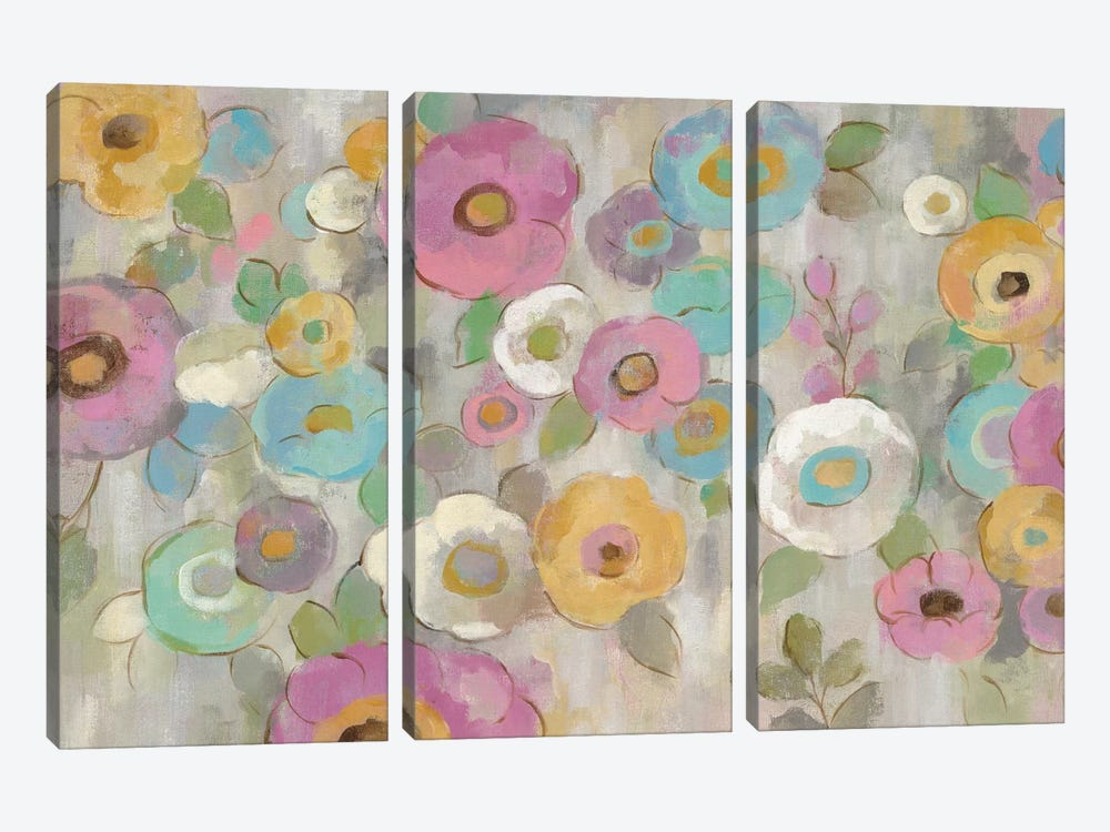 Fog And Flowers I by Silvia Vassileva 3-piece Canvas Artwork