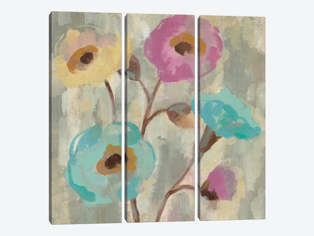 Fog And Flowers II by Silvia Vassileva 3-piece Art Print