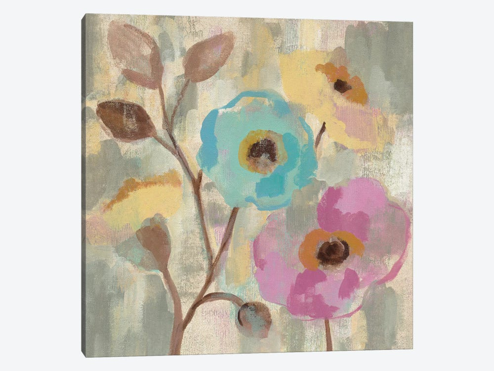 Fog And Flowers III by Silvia Vassileva 1-piece Canvas Art