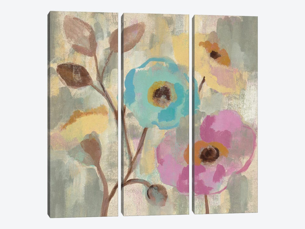 Fog And Flowers III by Silvia Vassileva 3-piece Canvas Art