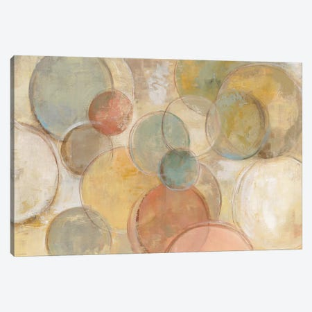 Fresco Bubbles Canvas Print #WAC4277} by Silvia Vassileva Canvas Art Print