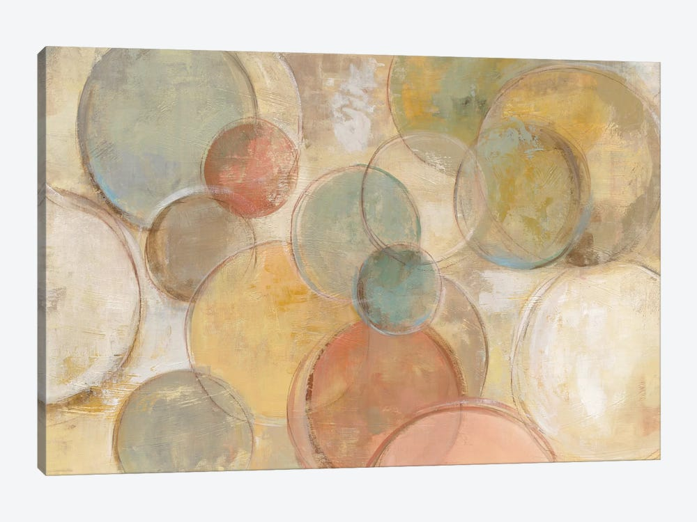 Fresco Bubbles by Silvia Vassileva 1-piece Canvas Art Print