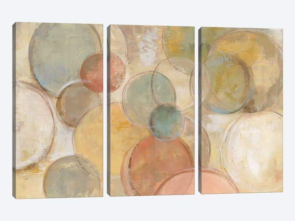 Fresco Bubbles by Silvia Vassileva 3-piece Canvas Art Print