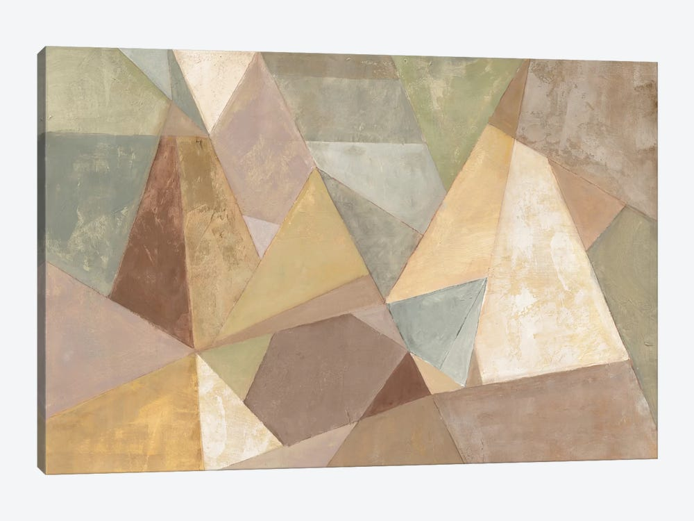 Geometric Abstract Neutral by Silvia Vassileva 1-piece Canvas Artwork
