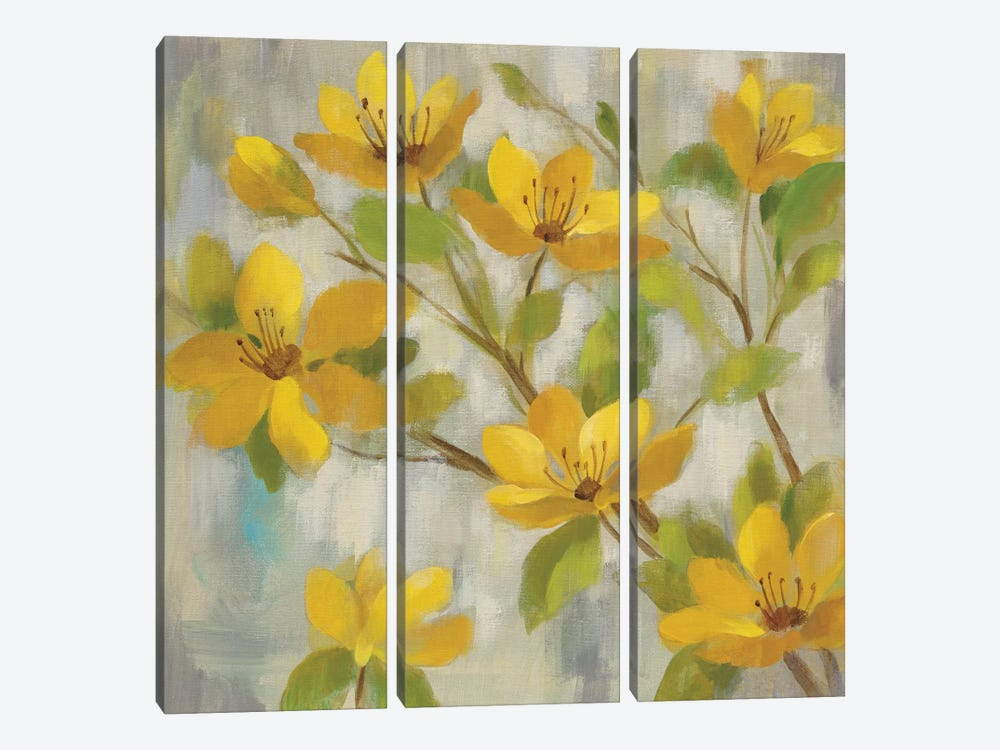 Golden Bloom I by Silvia Vassileva 3-piece Art Print