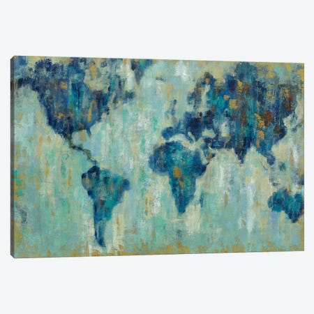 Map Of The World Canvas Print #WAC4281} by Silvia Vassileva Canvas Print