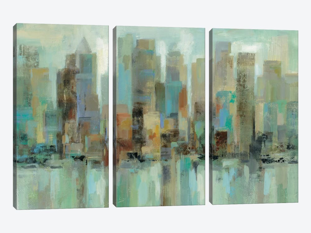 Morning Reflections by Silvia Vassileva 3-piece Canvas Print