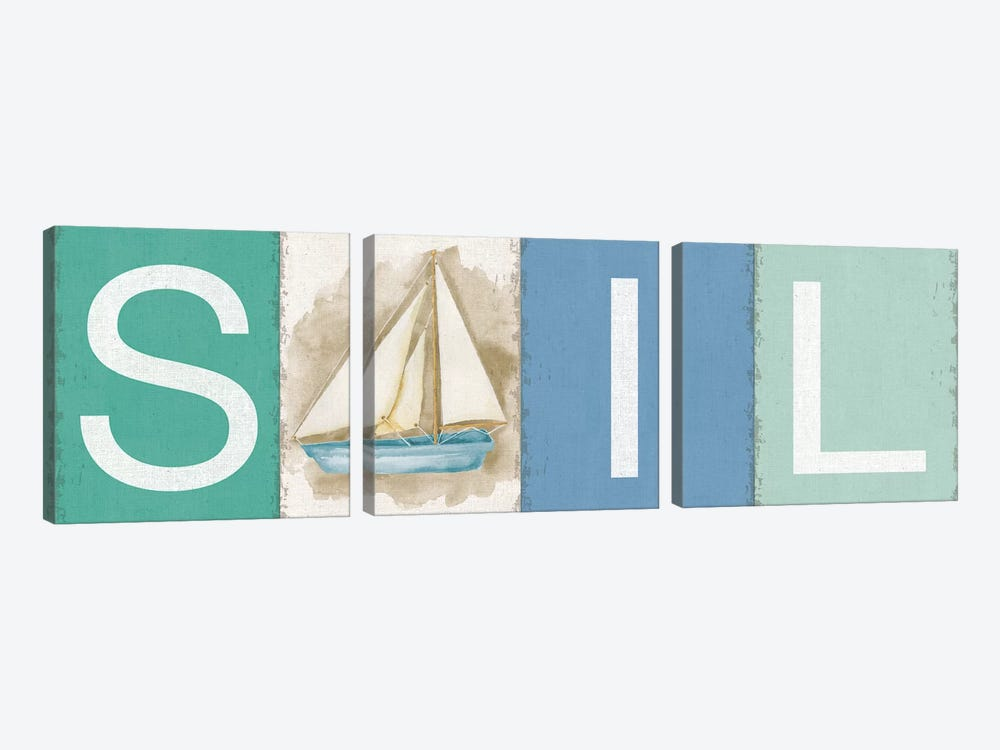 Sail New Horizons by Silvia Vassileva 3-piece Canvas Wall Art