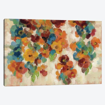 Spice And Turquoise Florals Canvas Print #WAC4288} by Silvia Vassileva Art Print
