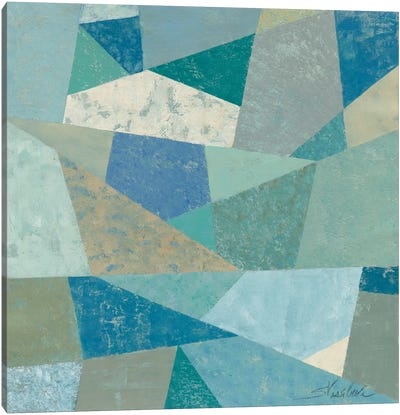 Teal Geo Metric Canvas Art Print