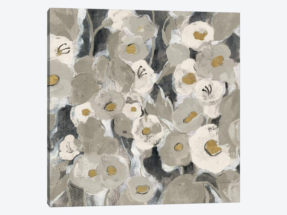 Velvety Florals Neutral II by Silvia Vassileva 1-piece Canvas Print
