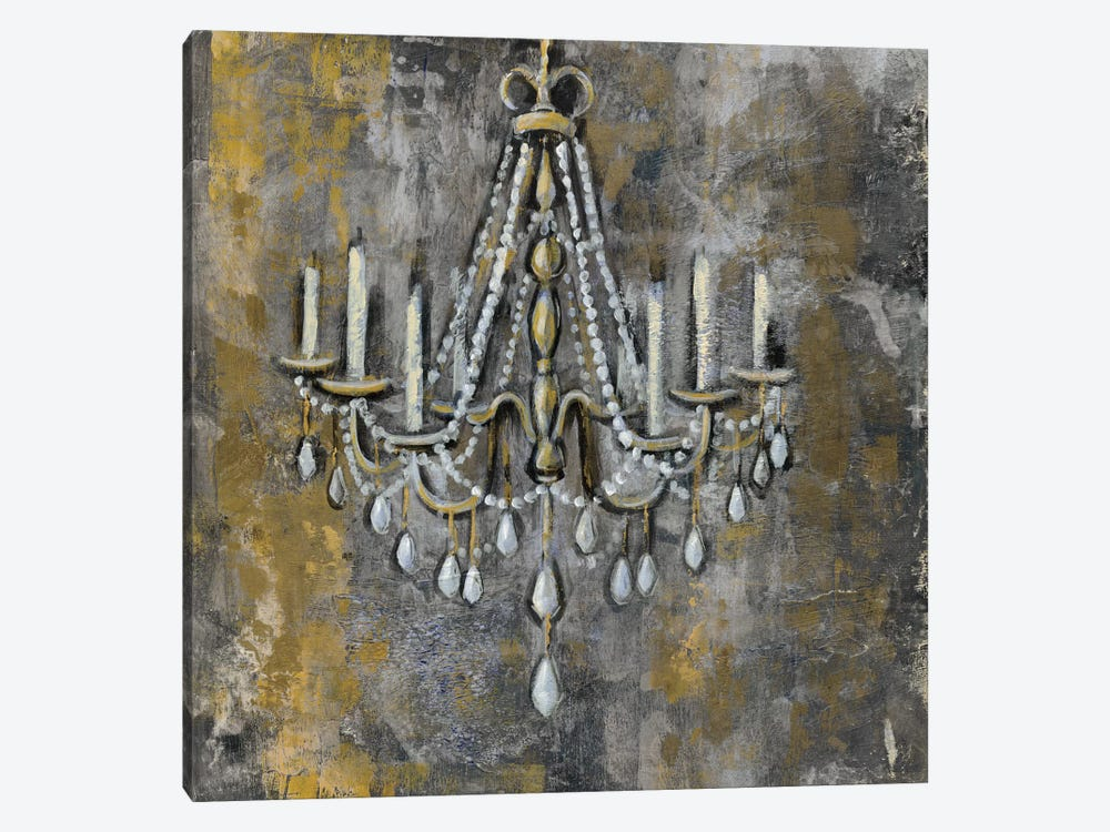 Vintage Chandelier II 1-piece Canvas Artwork