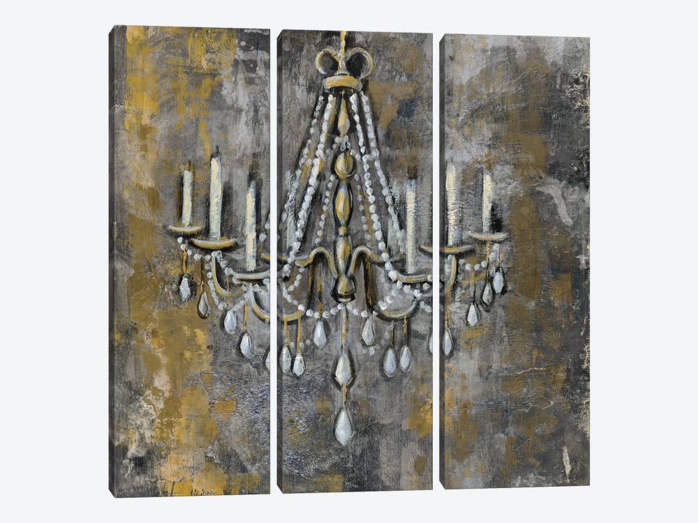 Vintage Chandelier II by Silvia Vassileva 3-piece Canvas Art
