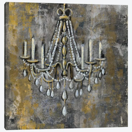 Vintage Chandelier II 3-Piece Canvas #WAC4294} by Silvia Vassileva Canvas Print