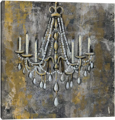 Vintage Chandelier II Canvas Art Print