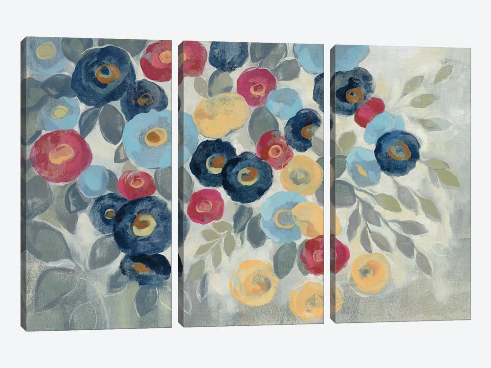 Winter Flowers I by Silvia Vassileva 3-piece Canvas Print