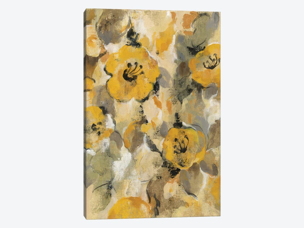 Yellow Floral I by Silvia Vassileva 1-piece Canvas Artwork