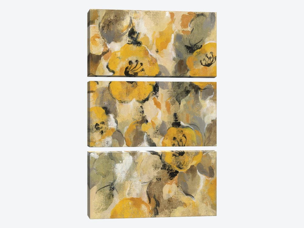 Yellow Floral I by Silvia Vassileva 3-piece Canvas Artwork