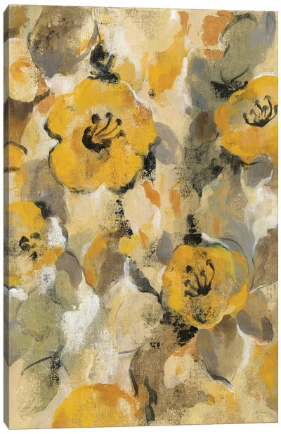Yellow Floral I Canvas Art Print