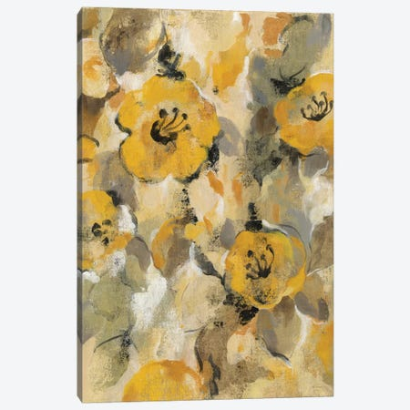 Yellow Floral I Canvas Print #WAC4298} by Silvia Vassileva Canvas Artwork
