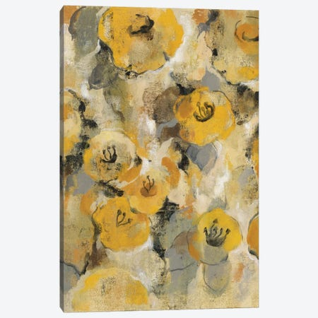 Yellow Floral II Canvas Print #WAC4299} by Silvia Vassileva Canvas Art