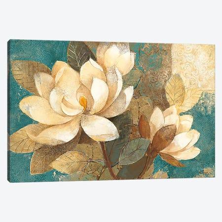 Turquoise Magnolias Canvas Print #WAC42} by Albena Hristova Art Print